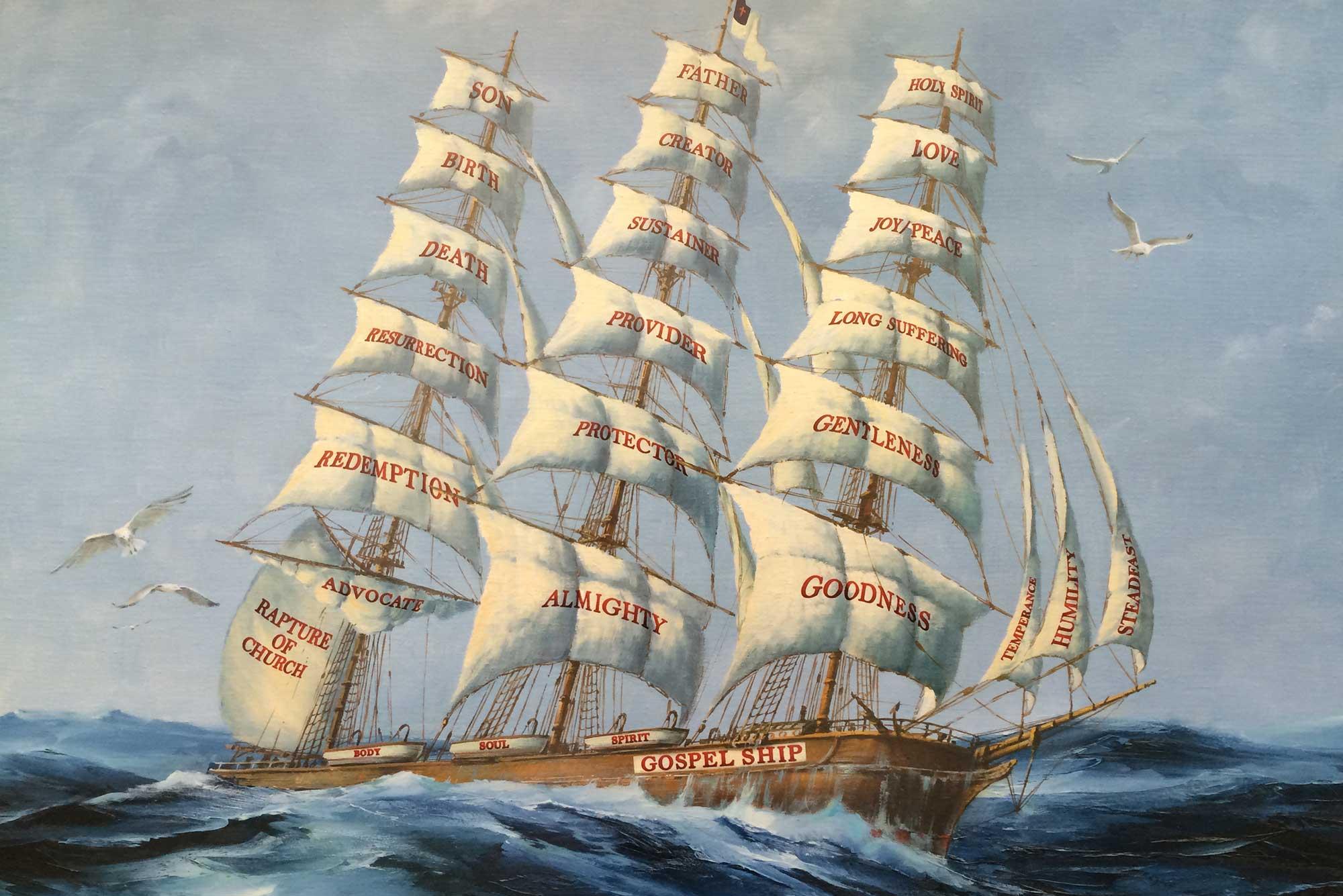 gospel ship print